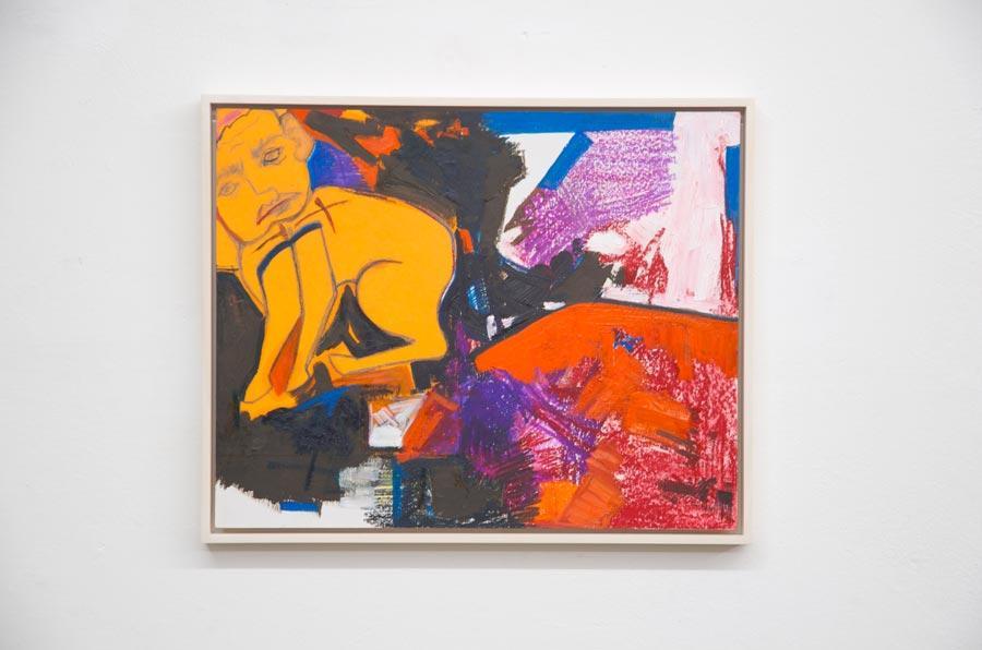 """Olivia Kaiser, """"Der gelbe Hund"""", 2014,  40 × 50 cm"""