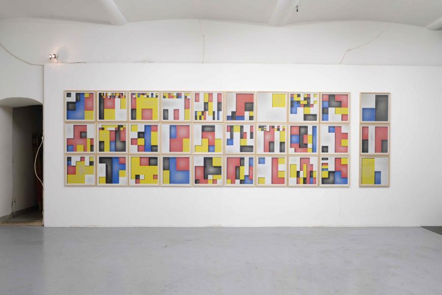 Ausstellungsansicht Florian Unterberger, Kunstraum am Schauplatz, 2017