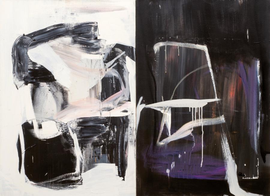 "FRANCO KAPPL ""Everglade"", Acryl auf Leinwand, Diptychon, 230 x 260 cm, 2015"