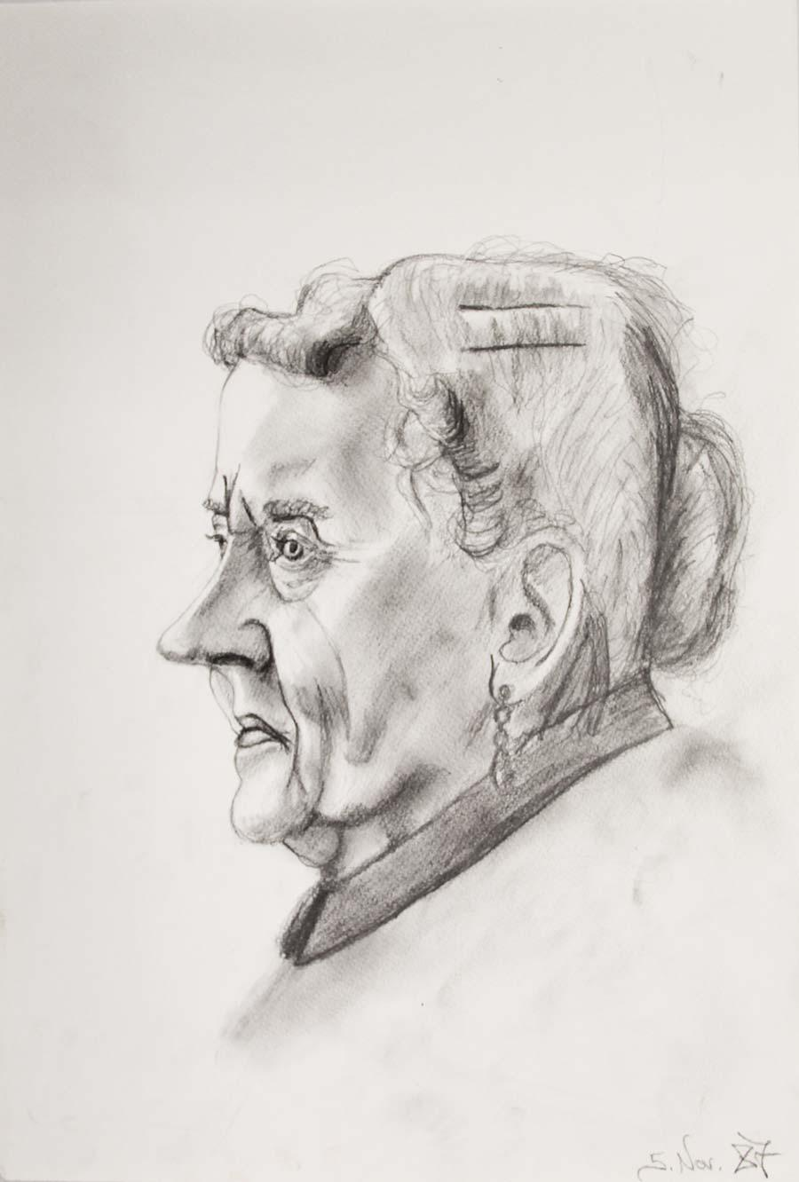 """5.Nov. 87"", 1987, 42x29,5cm, pencil on paper"