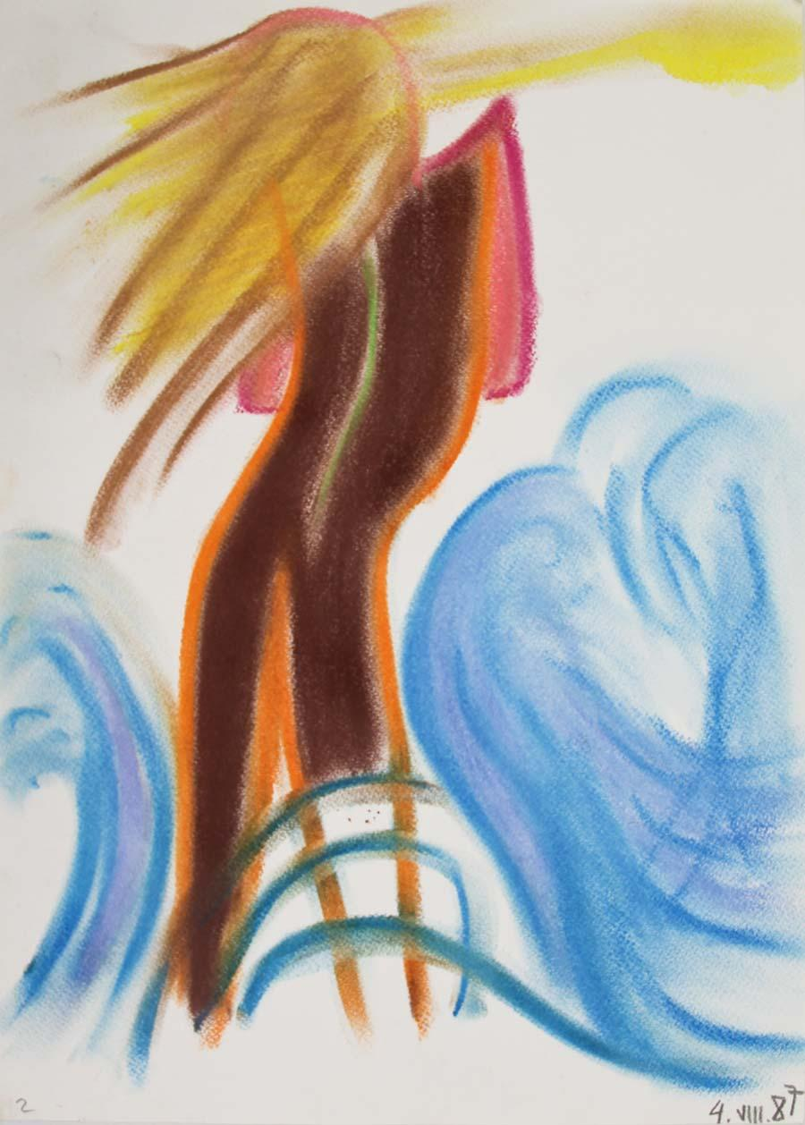 """4VIII.87"", 1987, 42x29,5cm, pastel on paper"
