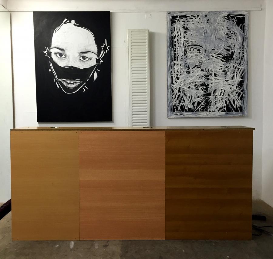 Installationsansicht The Katharsis-Show, Büro Weltausstellung, 2015.