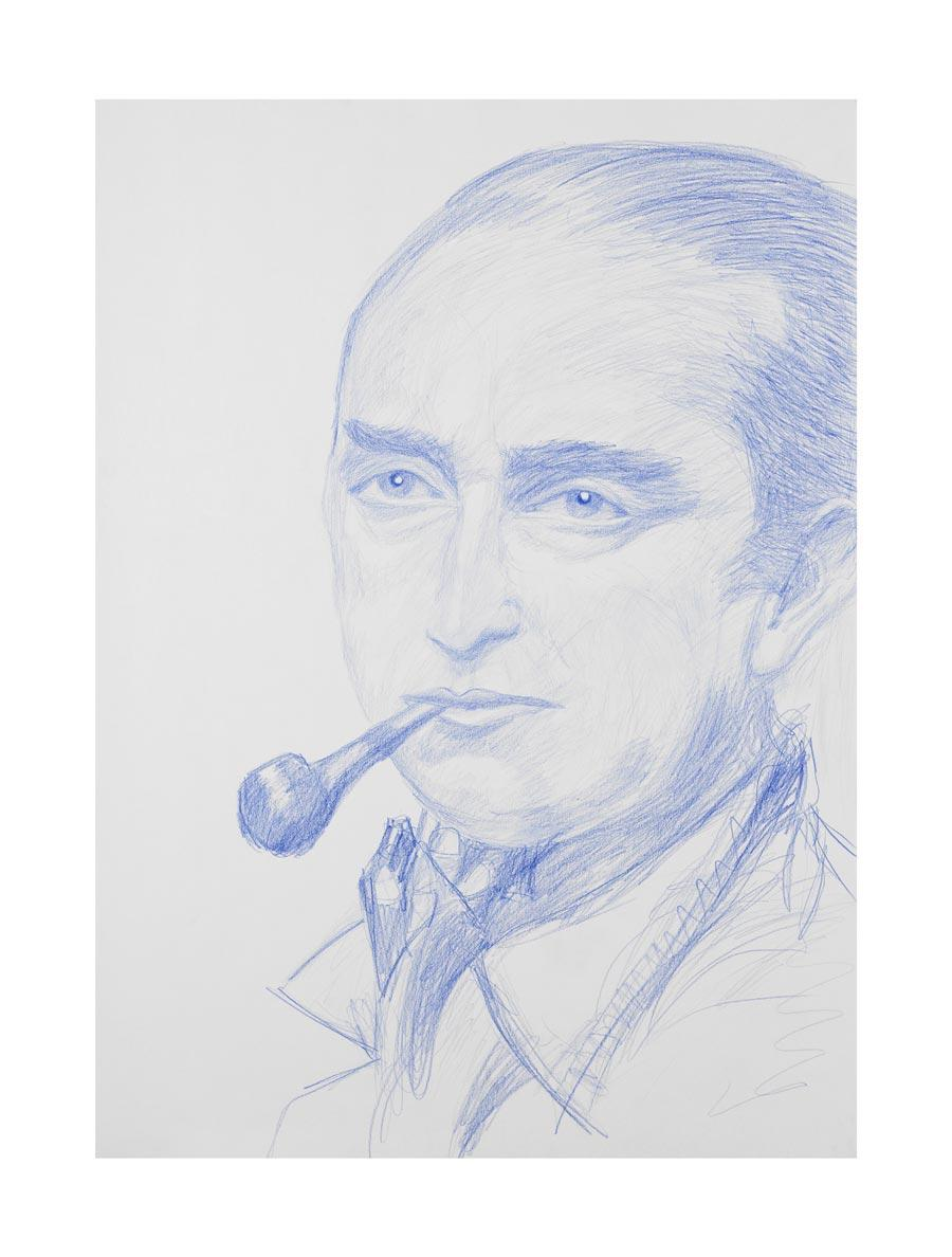 """Max Pechstein"", 2009, 70x50cm, colored pencil on paper"