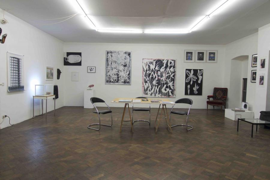 WAF REVIEW 2014, Installationsansicht Büro Weltausstellung 2014/15
