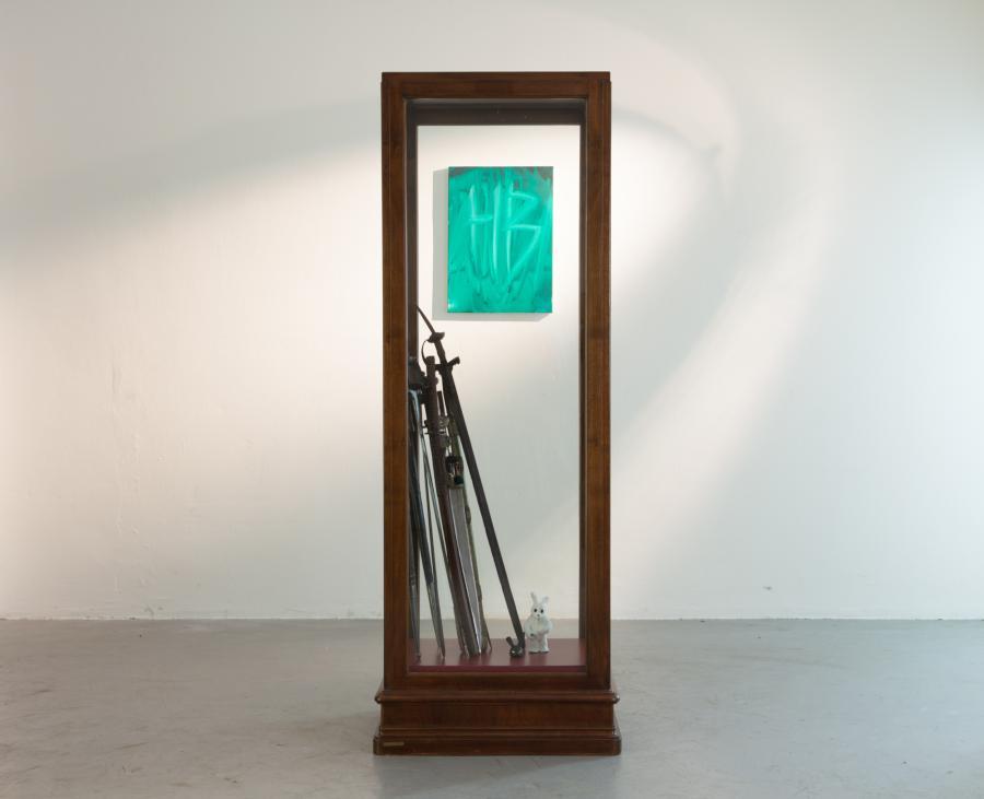 Installationsansicht DIAMANTEN Herbert Brandl, Kunstraum am Schauplatz, 2017, Foto Björn Segschneider