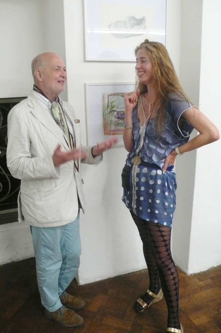 Herbert Lachmayer, Elke Silvia Krystufek, Büro Weltausstellung, Juni 2014, Foto © Stefan Bidner