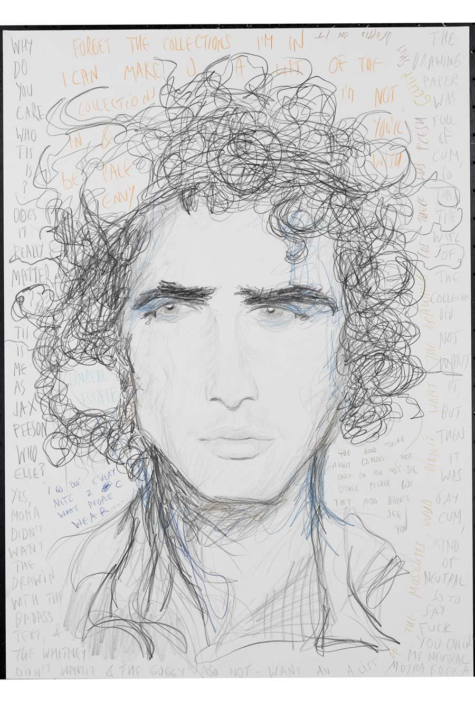 """""""Zac Posen"""", 2009, 70x50cm, colored pencil on paper"""