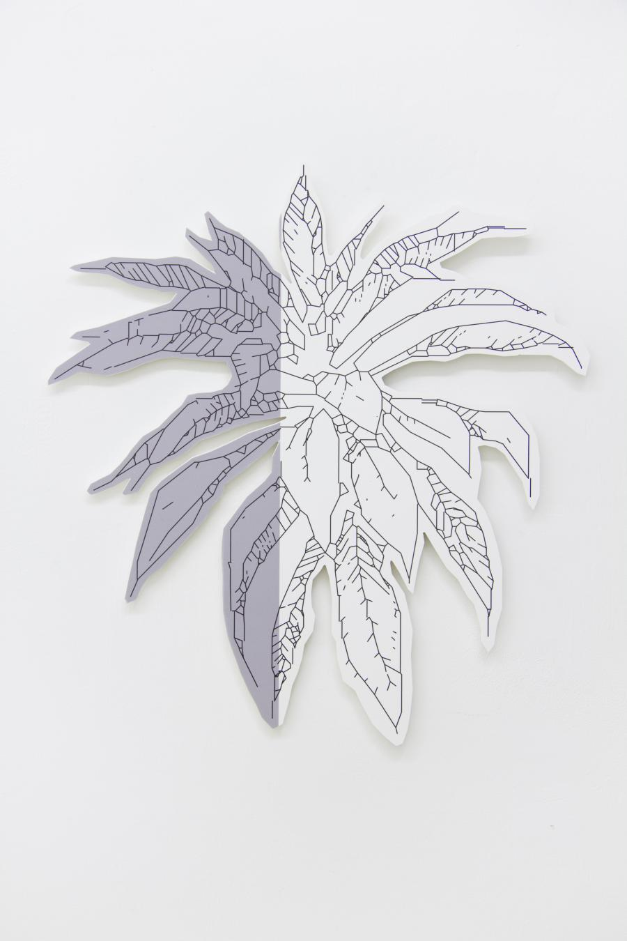 Richard Nikl, Plant (grey), UV-print on PVC, 72 x 77 cm, 2015
