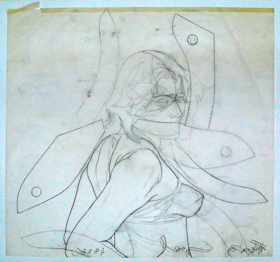 Franz Graf, WOMAN 2, 65 x 70 cm, Bleistift auf Transparentpapier, 2012, signiert