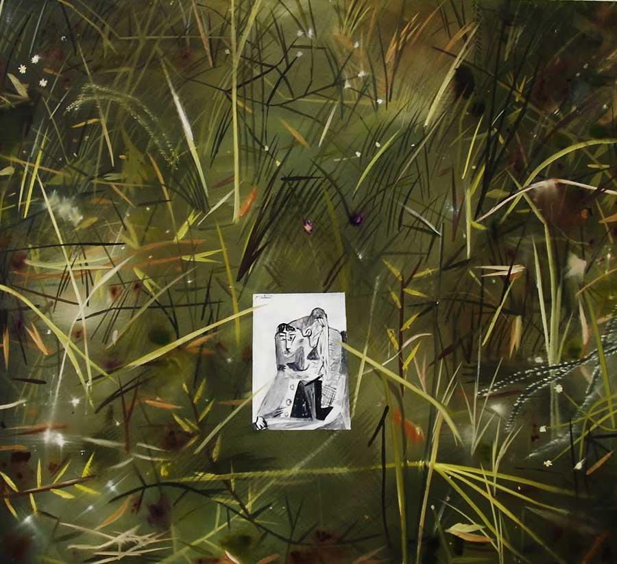 """Alexander Ruthner, """"Sylvretta"""", 100 x 90 cm, Öl auf Leinwand, 2013"""