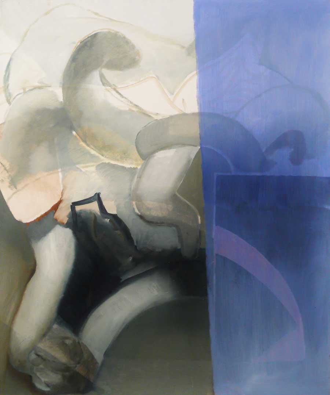 "Katherina Olschbaur, ""Gewurl"", 120 x 100 cm, Öl auf Leinwand, 2013"