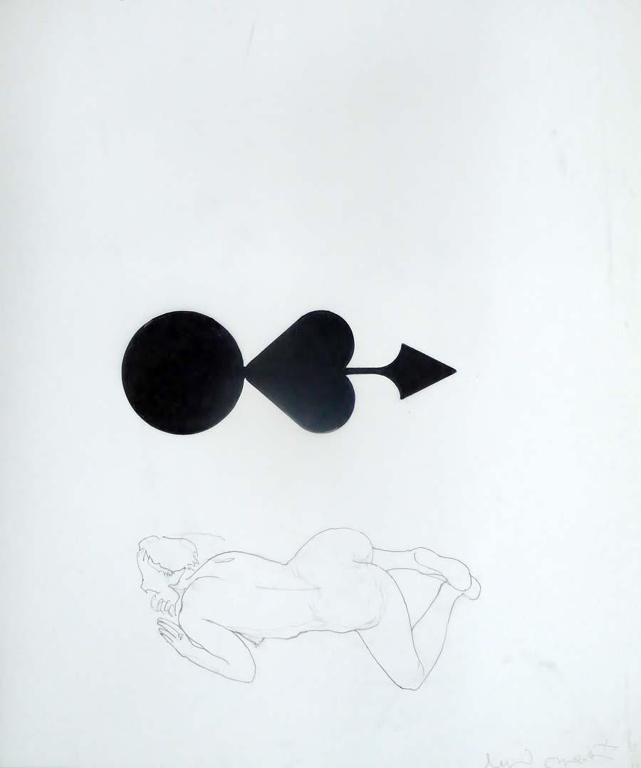 Franz Graf, WOMAN 5, 60 x 50 cm, Bleistift und permanent Marker auf Transparentpapier, 2012, signiert
