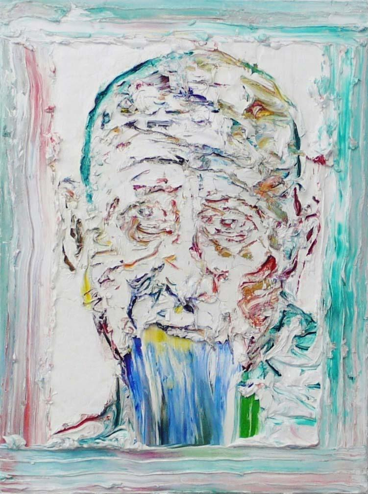 "Michi Lukas, aus der Serie ""too big to fail"": ""o.T. 2"", 80 x 60 cm, Öl auf Leinwand, 2013"