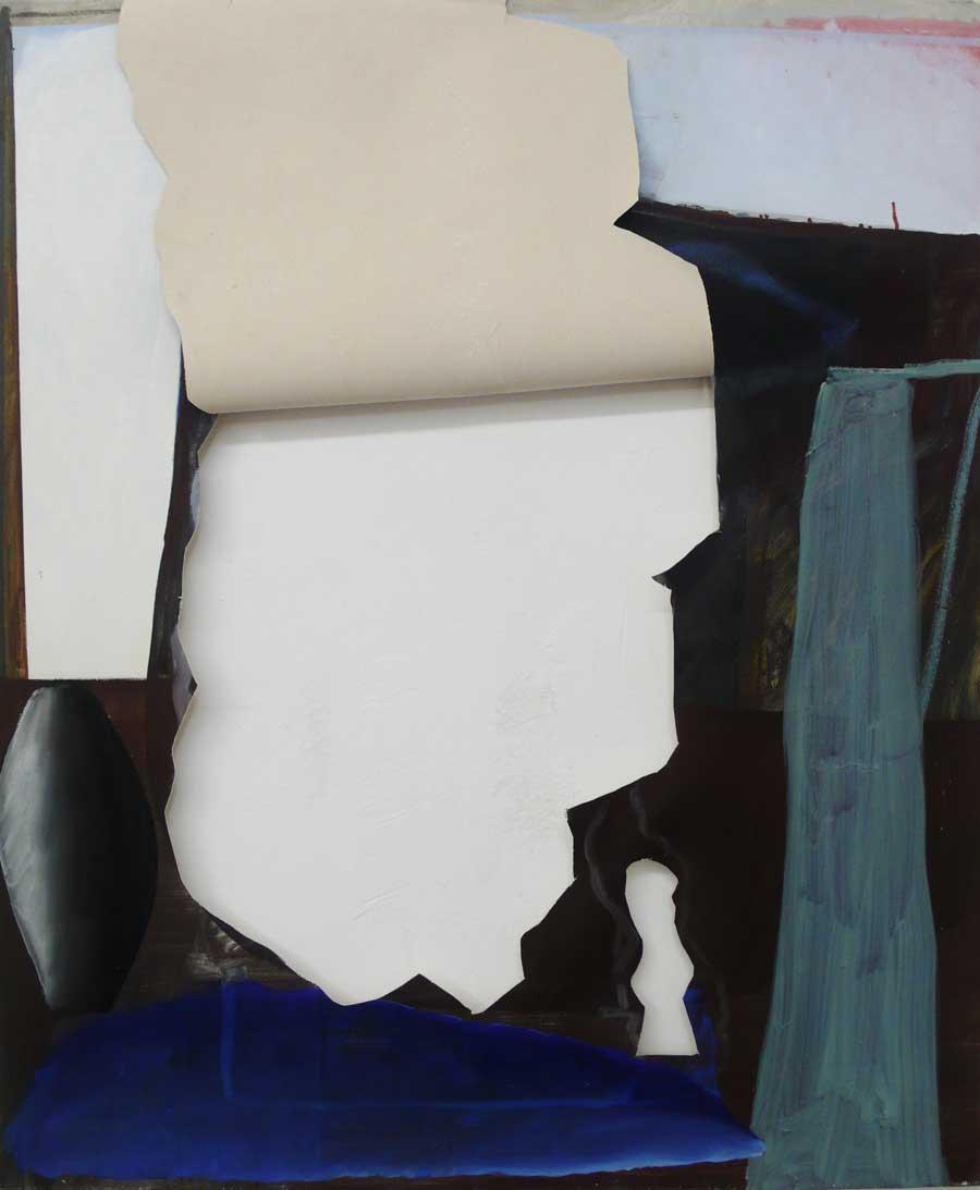 """Katherina Olschbaur, """"Griechische Dinge"""", 120 x 100 cm, Öl auf Leinwand, 2012–2013"""