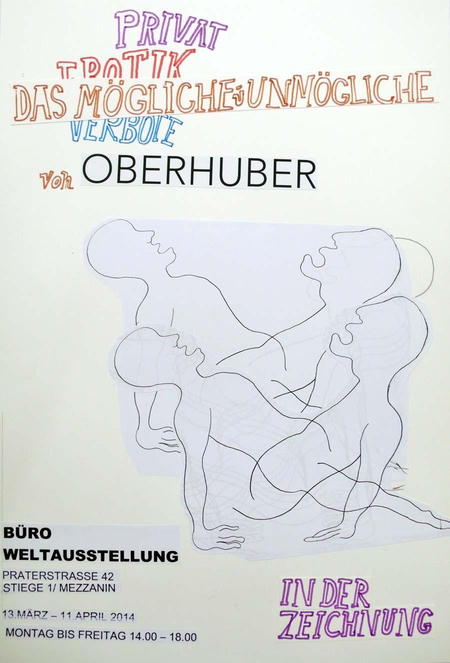 """""""Privat Erotik Verbote – Das Mögliche und Unmögliche von Oberhuber in der Zeichnung"""", 2013, Mischtechnik auf Papier"""