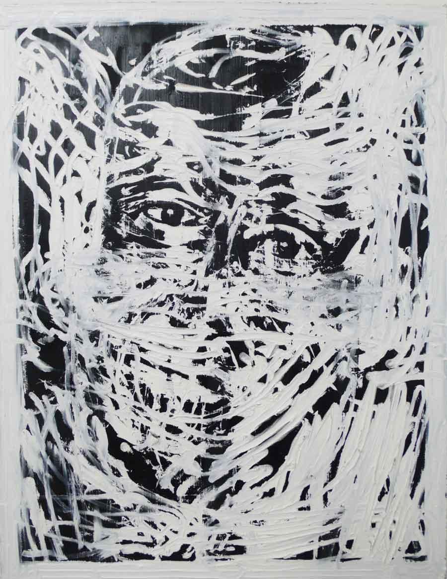 "Michi Lukas, aus der Serie ""too big to fail"": ""o.T. 4"", 120 x 155 cm, Öl auf Leinwand, 2013"