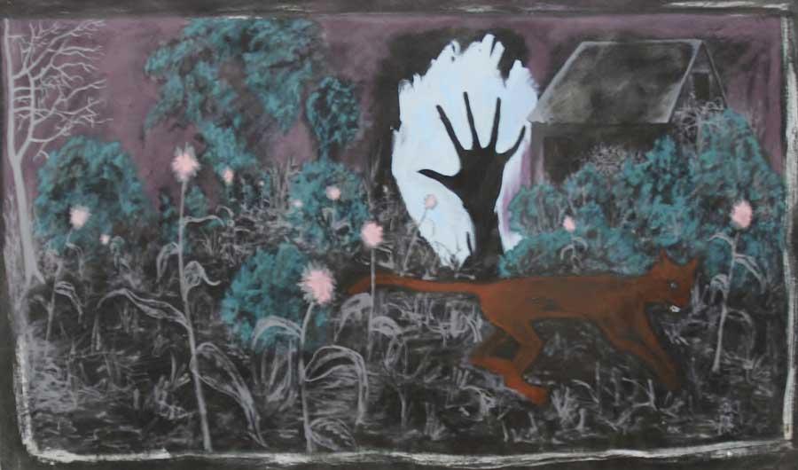 "Lutz Braun, ""Atelier"", 115 x 195 cm, Acryl auf Mollton"