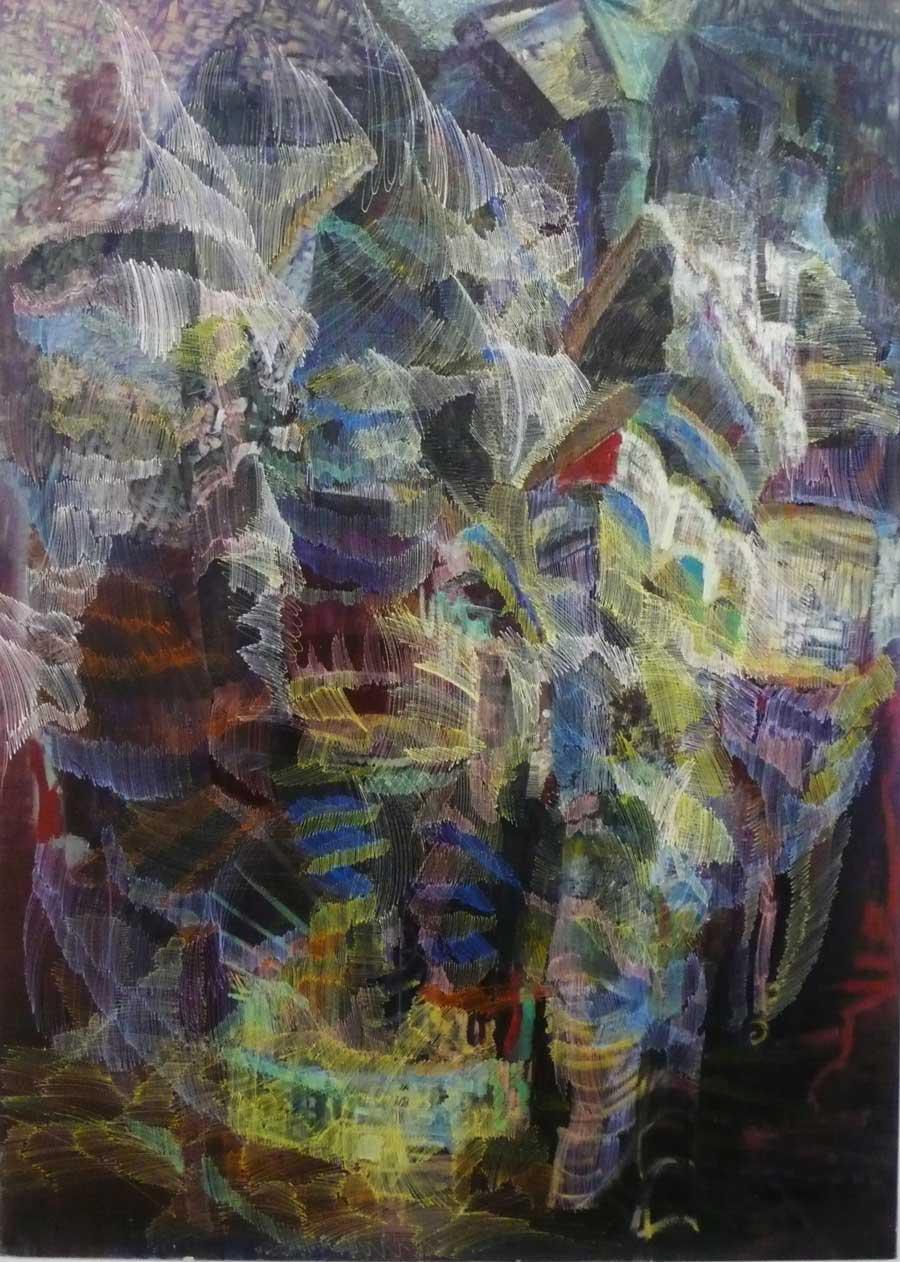 """Matthias Buch, """"o.T."""", 135 x 190 cm, Öl auf Leinwand, 2013"""