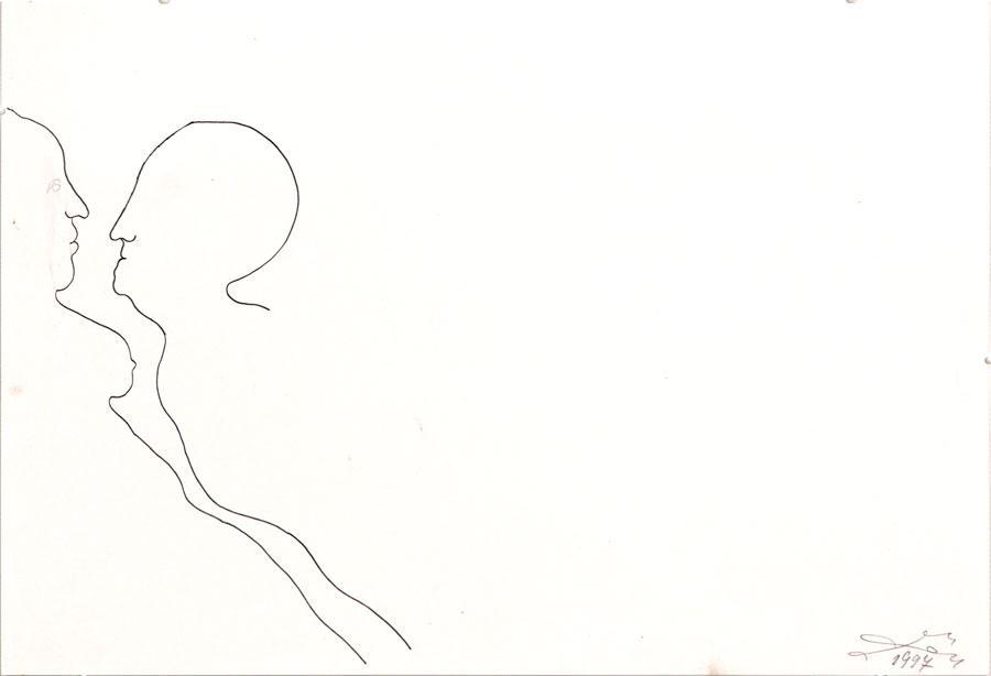 """""""LIEBE"""", 1997, 30 x 44 cm, Bleistift auf Papier"""